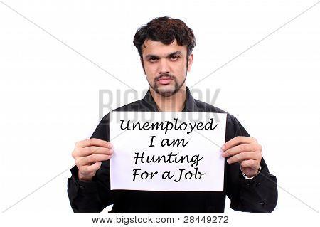 Unemployed Indian Man