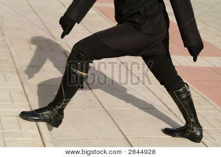 Black High Boot