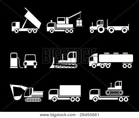 Trucks - Vector Icons