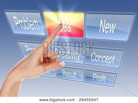 Digitalanzeige mit Geschäft Wörter