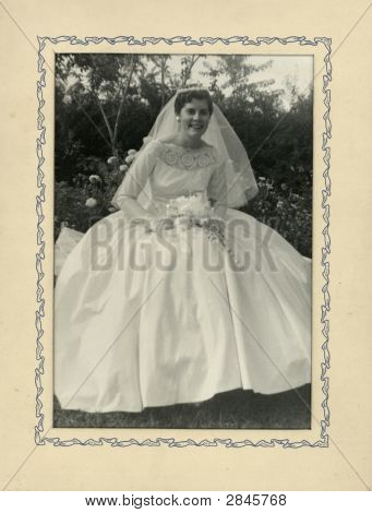 Foto de época de una novia 1920