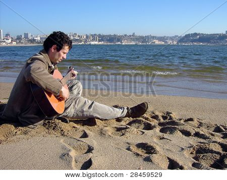 musician playing a string instrument