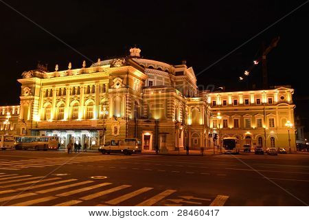 Mariinsky Theatre, St Petersburg, At Night