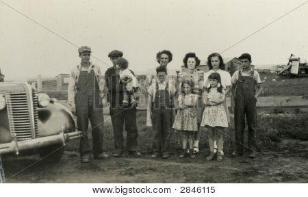 Foto de familia de época