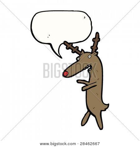 complaining reindeer cartoon