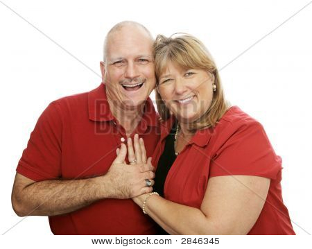 Happy Couple Laughig