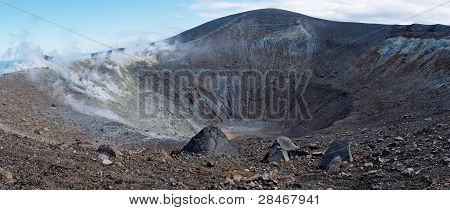 Crater of Vulcano island  volcano in Italy