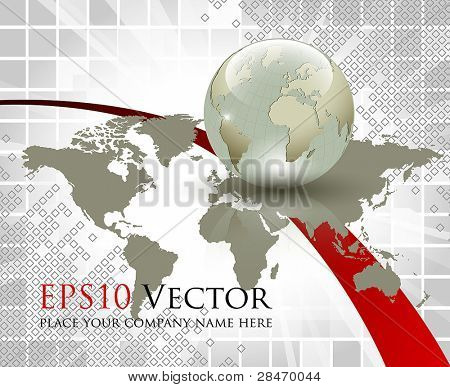 Business and communication abstract concept - vector illustration
