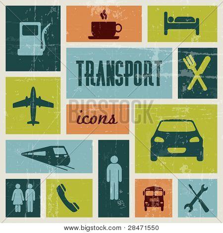 Cartel de Vector vintage transporte (tráfico)