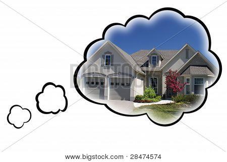 Concepto de sueño de la casa