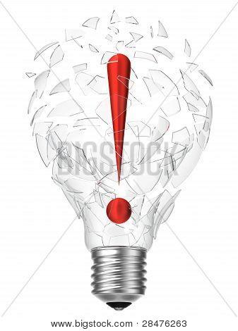 Lightbulb Idea Exclamation Point