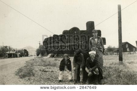 Vintage 1930 Photo  On The Farm