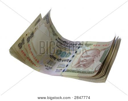 Indian Currency-Inr 500-Stacked