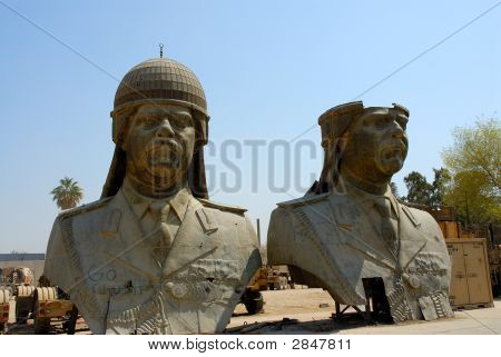 Saddam Hussain Präsidenten Köpfe