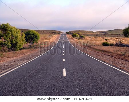 Road in the dry countryside