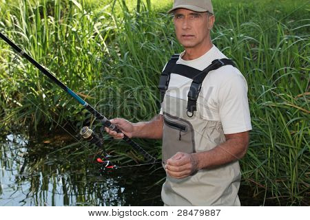 Man fishing