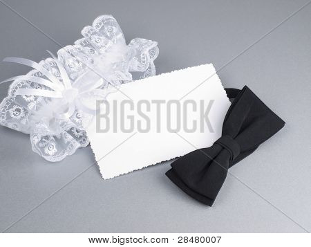 Carg, Bridal Garter And Bow  Tie