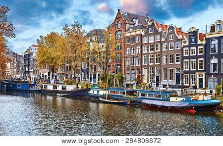 Amsterdam Netherlands Floating Houses houseboats