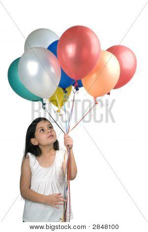Girl And Baloons
