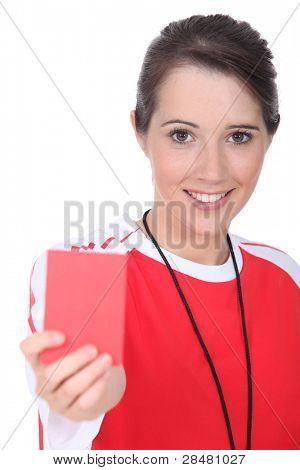 Female soccer referee