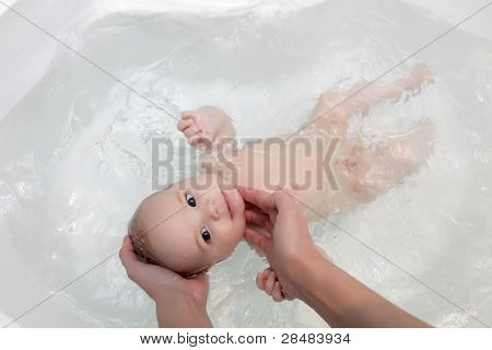 Baby Taking Bath