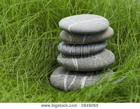 Stones In Grass