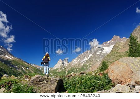 Hiker In Ferret Valley