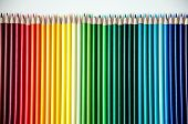 Many Multi-colored Pencils. Background With Color Pencils. Rainbow Colors, Palette. Bright And Color poster