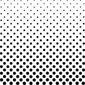Monochrome Dots Background. Abstract Fade Backdrop. Vintage Gradient Texture. Pop-art Pattern. Vecto poster