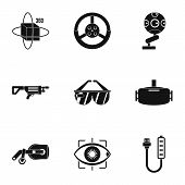 Vr Entertainment Icons Set. Simple Set Of 9 Vr Entertainment Icons For Web Isolated On White Backgro poster