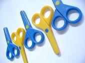 Blue & Yellow Scissors poster