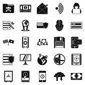 Globalization Icons Set. Simple Set Of 25 Globalization Icons For Web Isolated On White Background poster