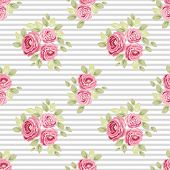 Cute Vintage Seamless Shabby Chic Floral Patterns For Your Decoration poster