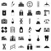 Chemical Factory Icons Set. Simple Style Of 36 Chemical Factory Icons For Web Isolated On White Back poster