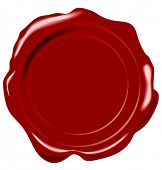 image of wax seal  - vector wax seal - JPG