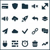 Interface Icons Set With Resize, Arrow, Undo And Other Safe Elements. Isolated  Illustration Interfa poster