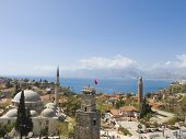 stock photo of annal  - View of Antalya the famous holiday town in Turkey - JPG