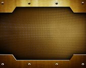 golden metal background