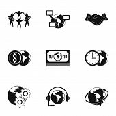 Global Network Icon Set. Simple Set Of 9 Global Network Icons For Web Isolated On White Background poster