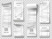 Shopping Receipt. Retail Store Purchase Receipts, Supermarket Invoice Printing And Purchasing Bill I poster