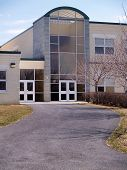 pic of school building  - an exterior view of a modern school building - JPG