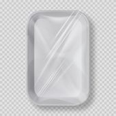 White Empty Plastic Container For Food. Layout Of Food Plastic Container For Meat, Fish And Vegetabl poster