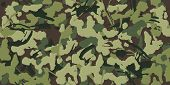 Abstract Grunge Camouflage, Seamless Pattern. Military Camo Texture With Paint Strokes And Splashes  poster