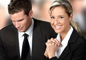 stock photo of people work  - business people working with laptop - JPG