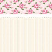Cute Shabby Chic Floral Background For Your Decoration poster