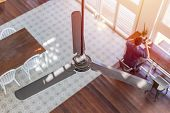 Interior Ceiling Fan Home Decoration In Hot Summer Season poster