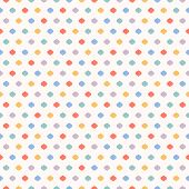 Cute Funky Vector Seamless Pattern. Vector Geometric Texture With Small Colorful Dots, Confetti On W poster