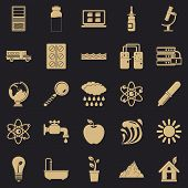 Chemical Element Icons Set. Simple Set Of 25 Chemical Element Vector Icons For Web For Any Design poster