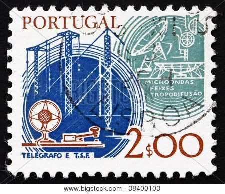 Postage stamp Portugal 1978 Telegraph and Satellite