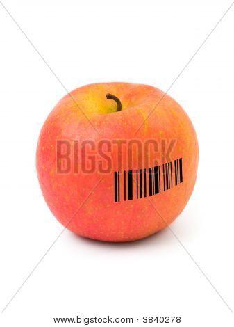 Apple mit barcode